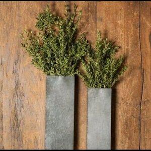 2 Magnolia Home Galvanized wall planter sconces